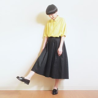 cotton flare skirt : black