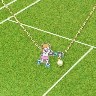 Tennis Player Necklace