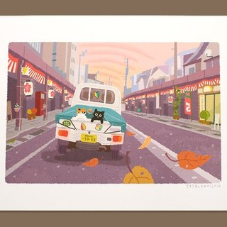 Tabineko illustration print (A3 size) |. 23 Autumn Festival evening of | Posters