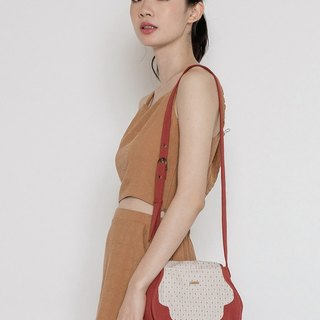 复古印花小圆包 Vintage Print Shoulder Bag