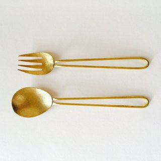Spoon & fork set large