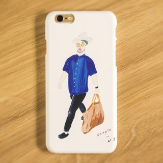 iPhone Android compatible People in NY 01 smartphone case