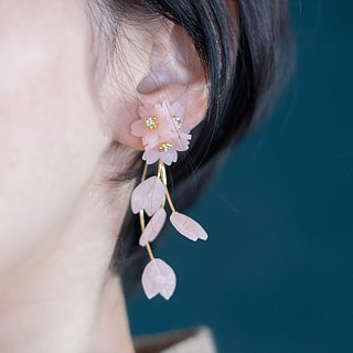 Order production, Sakura scattering earrings, earrings