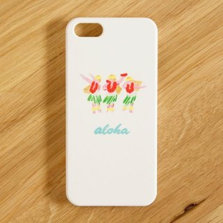 【IPhone / Android correspondence】 aloha hula girls color Smartphone case