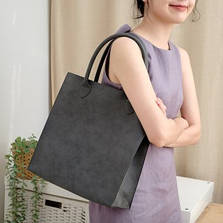 Jumbo Leather Tote Bag (Thunderstorm)