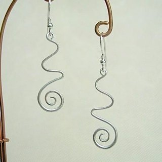 Earrings like running water sentences