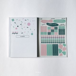 Planner set (small) : cover 002 / back pink cover