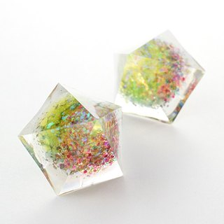 Pentagon Dome Earrings (Psychedelia)