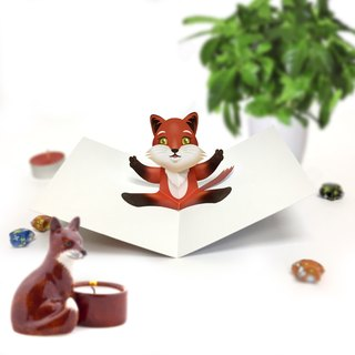 Fox Card | Fox Birthday Card | Fox Pop Up Card | Fox