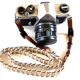 Asahimo hemp camera strap BRW (belt type)