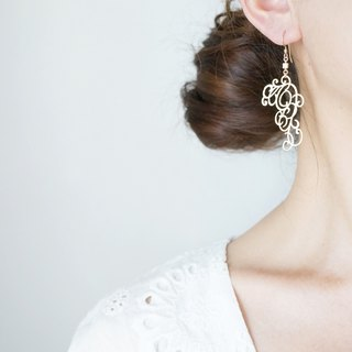 【14 KGF】 Earrings, Matt Gold Elegant Filigree
