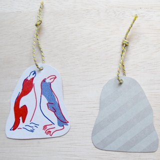 Ancient animal paper tag great auk