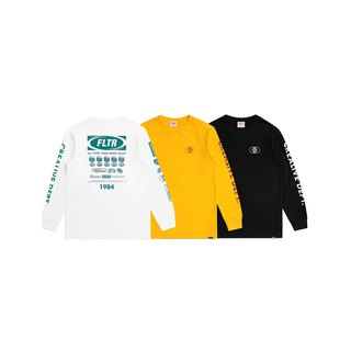 FLTR 90s Worldwide Logo Long Sleeve Tee  Worldwide Logo薄长T