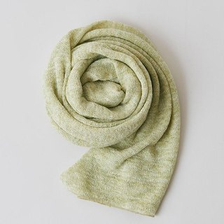 Linen Knit Stole Light Khaki