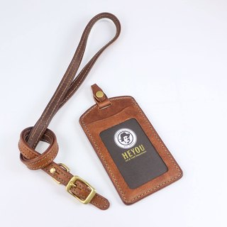 HEYOU Handmade –Leather Card Holder 皮革证件套-咖