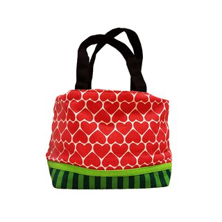Ang Ku Kueh Girl's B.F.F. Drawstring LunchBag (Watermelon) 水果系列 西瓜 抽绳包包