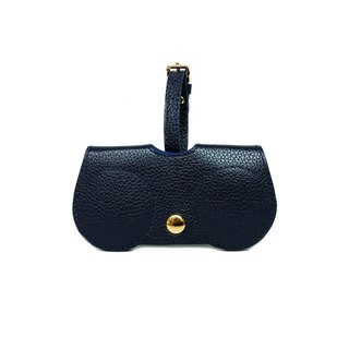 NavyBlue B.Cover Hanging Out leather Pouch Cases Sunglasses