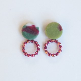 Only one point / small ring earrings / earrings