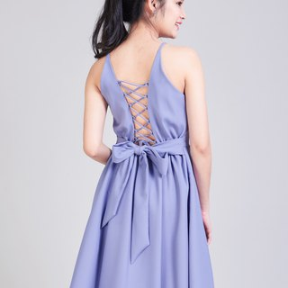 Purple Dress Crisscross Dress Short Purple Party Dress Swing Skirt Summer Dress