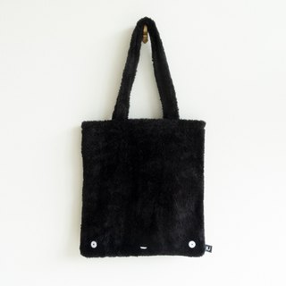 Lu face fluffy tote bag