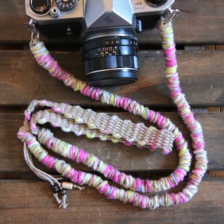 Number limited / Fleece tape yarn hemp string hemp camera strap / double ring
