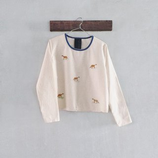 Foxes - Long sleeve Crop Top