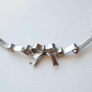 Flirted ribbon necklace [SILVER 950]
