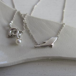 Fish of the Moon Silver Necklace