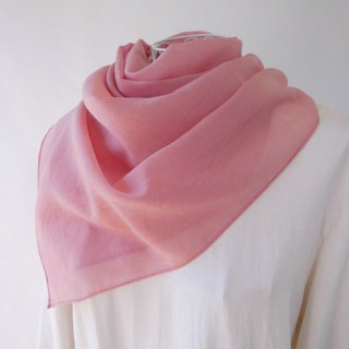 Plant dyeing · Easy to use thin wool · stole _ 1 · baby pink