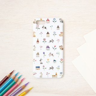 "Fragments of a picture book. Smartphone case ""Rabbit's town"" SC-291"