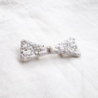 White brooch g
