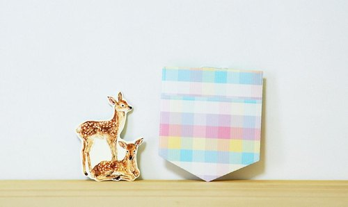 Card set with 2 pockets (Bambi)