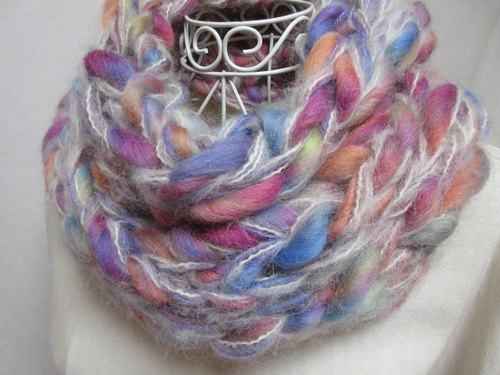 (Over-the-Rainbow) fine 100% wool and plenty of baby alpaca, fluffy ♪ snood