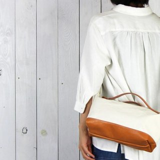 nomad-mini · Generation Kurashiki canvas × leather shoulder bag