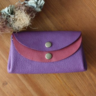 Small wallet Violet × wine of pigskin