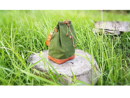Men's Backpack / Canvas and Leather Backpack / Duffle Bag / Sailor Bag / Rucksack / Day Bag / Beach Bag / Gym Bag / Summer Bag / For Him