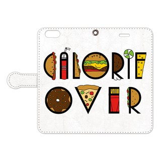 Notebook type iPhone case / Calorie over taypo