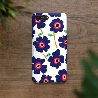 iphone case blue flower pattern for iphone5s,6s,6s plus, 7,7+, 8, 8+,iphone x