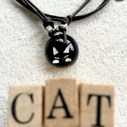 Glass pendant Hide and Seek Cats