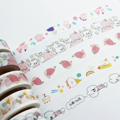 Raccoon factory masking tape 3 set