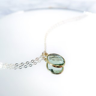 14KGF / GREEN AMETHYST NECKLACE