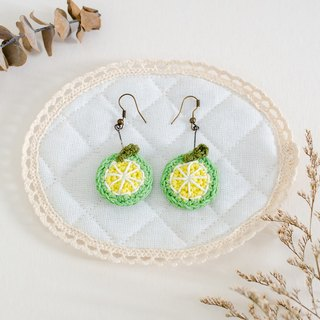Earrings crochet fruit | The Lemon
