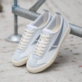 TOUCH GROUND 韩国复古手工波鞋 VINTAGE BADMINTON SNEAKERS WHITE SILVER P00000HL