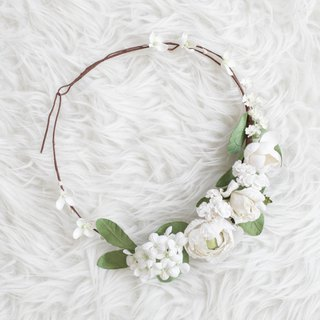 Pure White Handmade Floral Crown