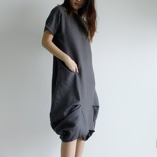Made to order linen dress / linen clothing / long dress / casual dress E14D