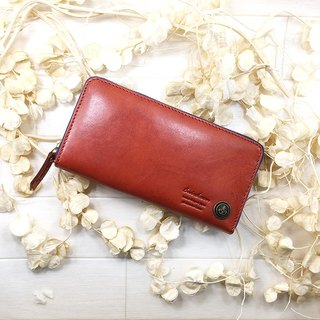 Long wallet / Italian leather / leather / flap / cool / stylish