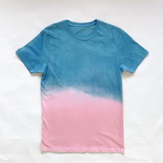 Indigo dyed Indigo dye + muddy organic cotton - Morning phase TEE