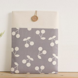 Tablet case cherries gray