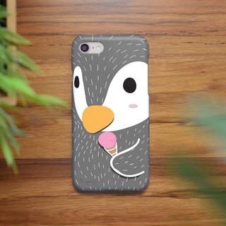 iphone case cute penguin ice cream for iphone 6 plus, 7, 8, iphone xs , xs max