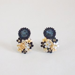 "Earrings ""bijoux & bouquet"" navy blue"